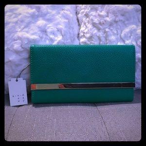 NWT! Green wallet